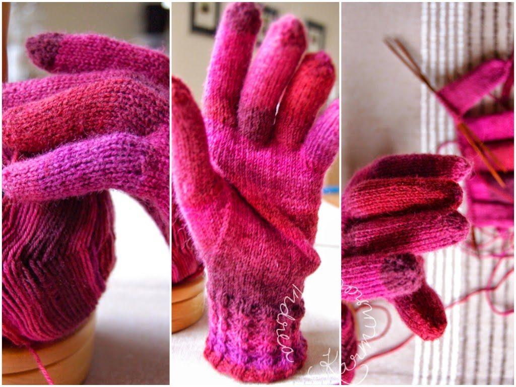 Handschuhe in Pink