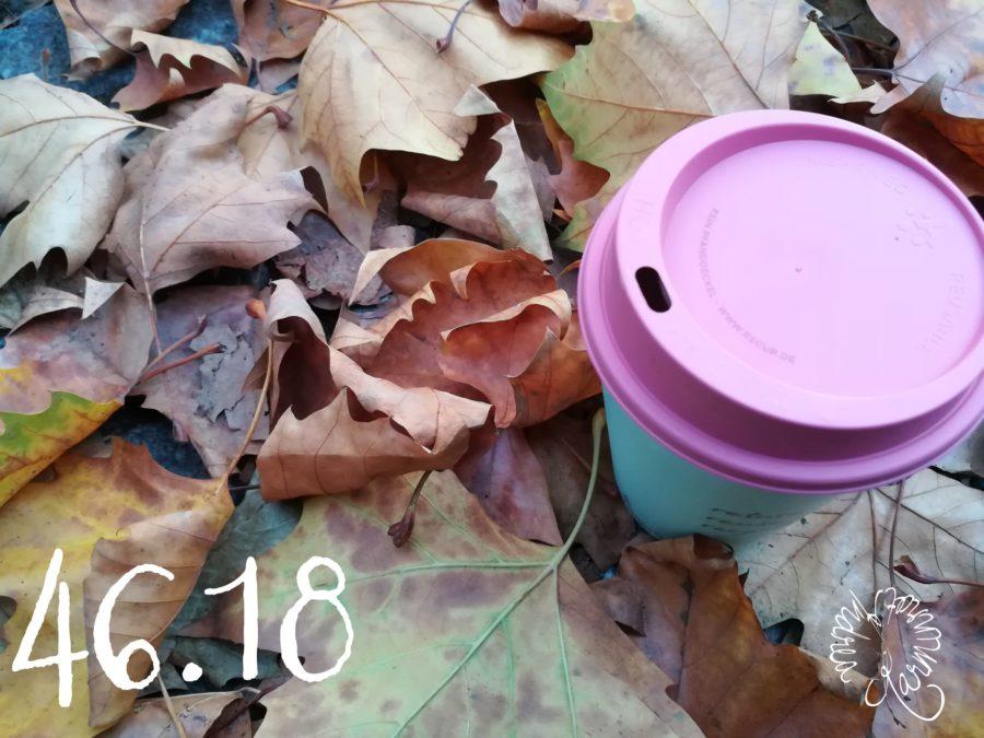 Samstag mit Herbstblätter