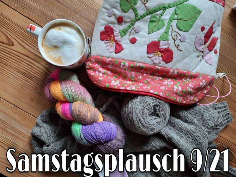 Überraschung ist schön: eine handgearbeitete Projekttasche mit Wollstrang
