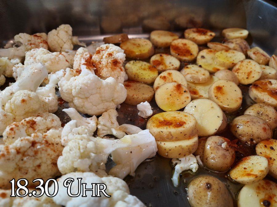 Blumenkohl und Kartoffeln passend zu ein lahmer Sonntag