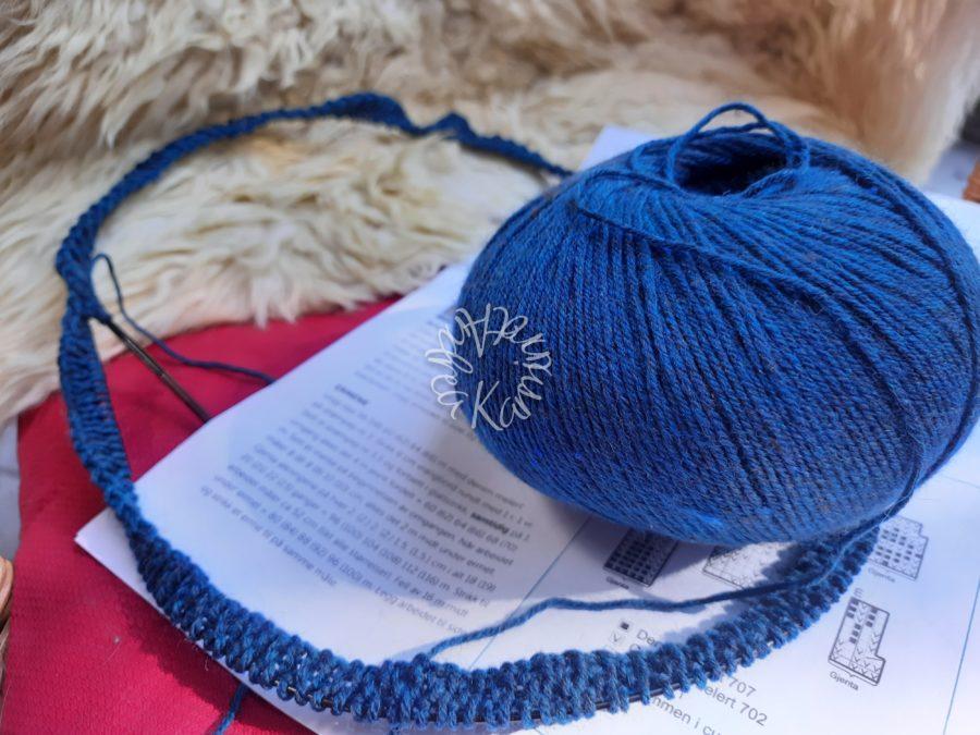 Der Norwegische Pullover ist bestimmt eine Herbststrickerei